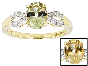 Color Change Zultanite® And White Diamond 14k Yellow Gold Ring 1.04ctw