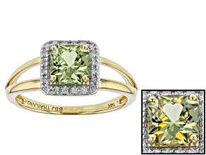 Green Zultanite® And White Diamond 14k Yellow Gold Ring 1.11ctw
