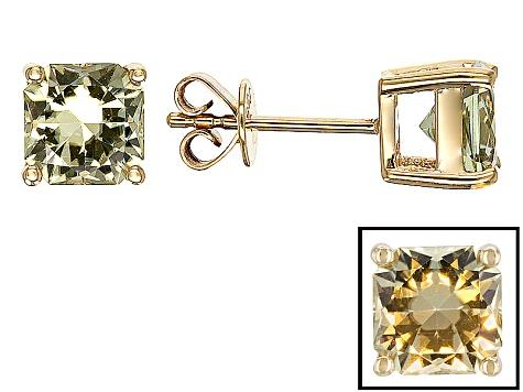 Color Change Zultanite 14k Yellow Gold Earrings 2 00ctw