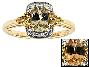 Color Change Zultanite® 14k Yellow Gold Ring .93ctw