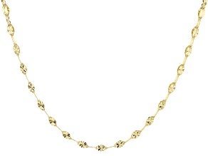 10k Yellow Gold Two-Strand Cable Chain Necklace 20 inch
