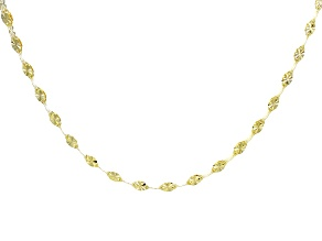 10k Yellow Gold Two-Strand Cable Chain Necklace 24 inch