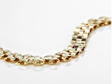 10k Yellow Gold Hollow Panther Link Bracelet 7.5 inch