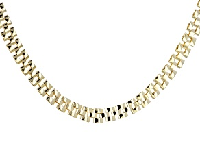 10k Yellow Gold Hollow Panther Link Necklace 18 inch