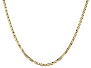 10k Yellow Gold Hollow Popcorn Chain Necklace