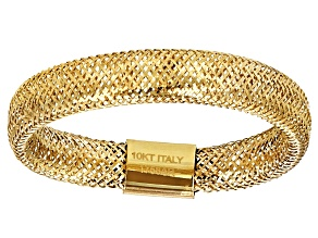 10k Yellow Gold Stretch Mesh Band Ring