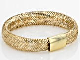 10k Yellow Gold Stretch Mesh Band Ring