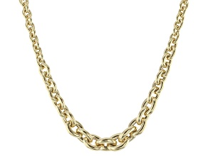 10k Yellow Gold Hollow Rolo Necklace 18 inch