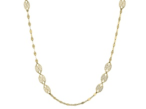 10k Yellow Gold Station Necklace 24 inch