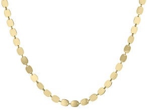 10k Yellow Gold Mirror Chain Necklace 30 inch