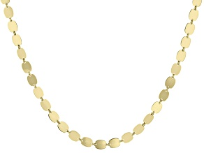 10k Yellow Gold Mirror Chain Necklace 36 inch