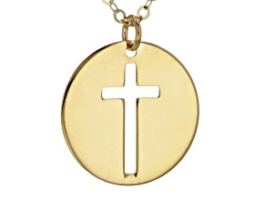 10k Yellow Gold Cross Necklace 20 inch
