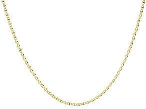 10k Yellow Gold Mirror Chain Necklace 20 inch