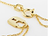10k Yellow Gold Mini Lock Necklace 16 inch