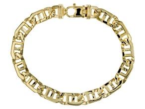 10k Yellow Gold Handmade Window Link Bracelet 8.5 inch