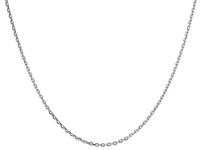 14k White Gold Cable Chain Necklace 20 inch