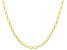 10KT Yellow Gold Diamond Cut Oval Necklace 20