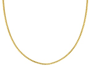 10k Yellow Gold Box Chain Necklace 18 inch