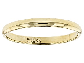10K Yellow Gold 2MM Polished Comfort Fit Band Ring