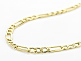 10K Yellow Gold 2.5MM Figaro Chain