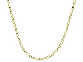 10K Yellow Gold 2.5MM Figaro Chain
