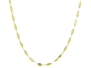 10k Yellow Gold Flat Mirror Cable Chain Necklace 24 inch
