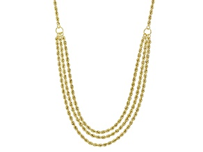 10k Yellow Gold Rope Necklace 18 inch