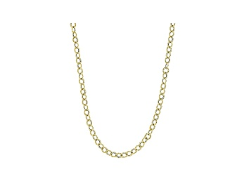 Picture of 10k Yellow Gold Hollow Cable Chain Necklace 20 inch 3mm
