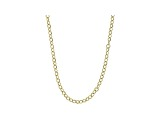 10k Yellow Gold Hollow Cable Chain Necklace 20 inch 3mm