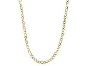 10k Yellow Gold Hollow Cable Chain Necklace 24 inch 3.0mm