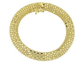 10k Yellow Gold Hollow Polished Bismark Bracelet 7.5 inch
