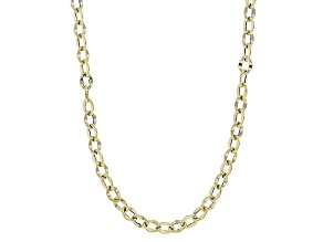 10k Yellow Gold Cable Chain Necklace 20 inch 3.5mm