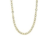 10k Yellow Gold Cable Chain Necklace 24 inch 3.5mm