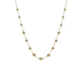 10k Yellow Gold Bead Station Necklace 18 inch