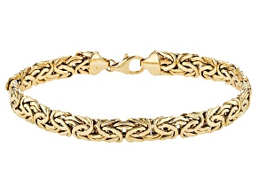 14k Yellow Gold Byzantine Bracelet 8 inch 7mm