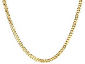 10K Yellow Gold 4.4MM Franco Chain 30 Inch Necklace