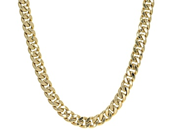 Picture of 14K Yellow Gold 11MM Semi-Solid Curb Chain 22 Inch Necklace