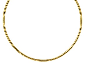 14K Two-Tone 4MM Reversible Omega 18 Inch Necklace