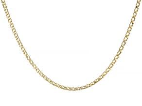 10K Yellow Gold Diamond-Cut 2MM Double Curb Chain