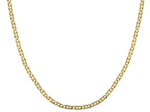 10K Yellow Gold 2.5MM Flat Birdeye Chain 20 Inch Necklace
