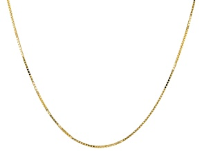 10K Yellow Gold 0.6MM Box Chain 18 Inch Necklace