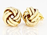 10K Yellow Gold 12.9MM Polished Love Knot Earrings