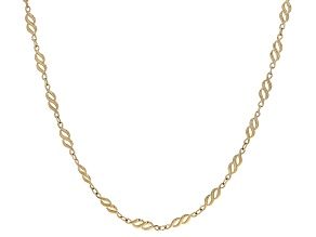 10K Yellow Gold 4.8MM Infinity Chain 18 Inch Necklace