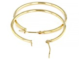 14K Yellow Gold 30MM Tube Hoop Earrings