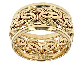 14k Yellow Gold Hollow Center Band Ring