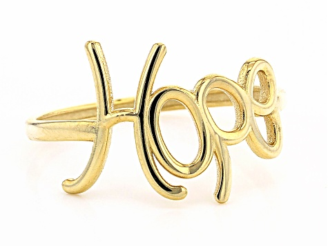 10K Yellow Gold HOPE Script Ring
