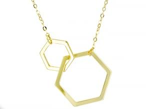10K Yellow Gold Interlocking Honeycomb Diamond-Cut Necklace