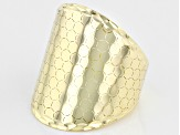 10K Yellow Gold Dome Honeycomb Ring