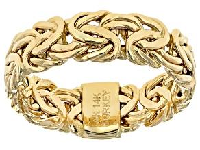 14k Yellow Gold 6mm Byzantine Band Ring