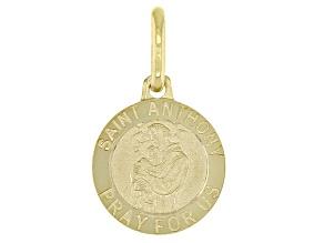 10K Yellow Gold Saint Anthony Medal Pendant